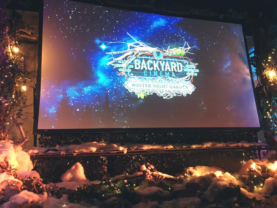 Backyard Cinema – Winter Night Garden