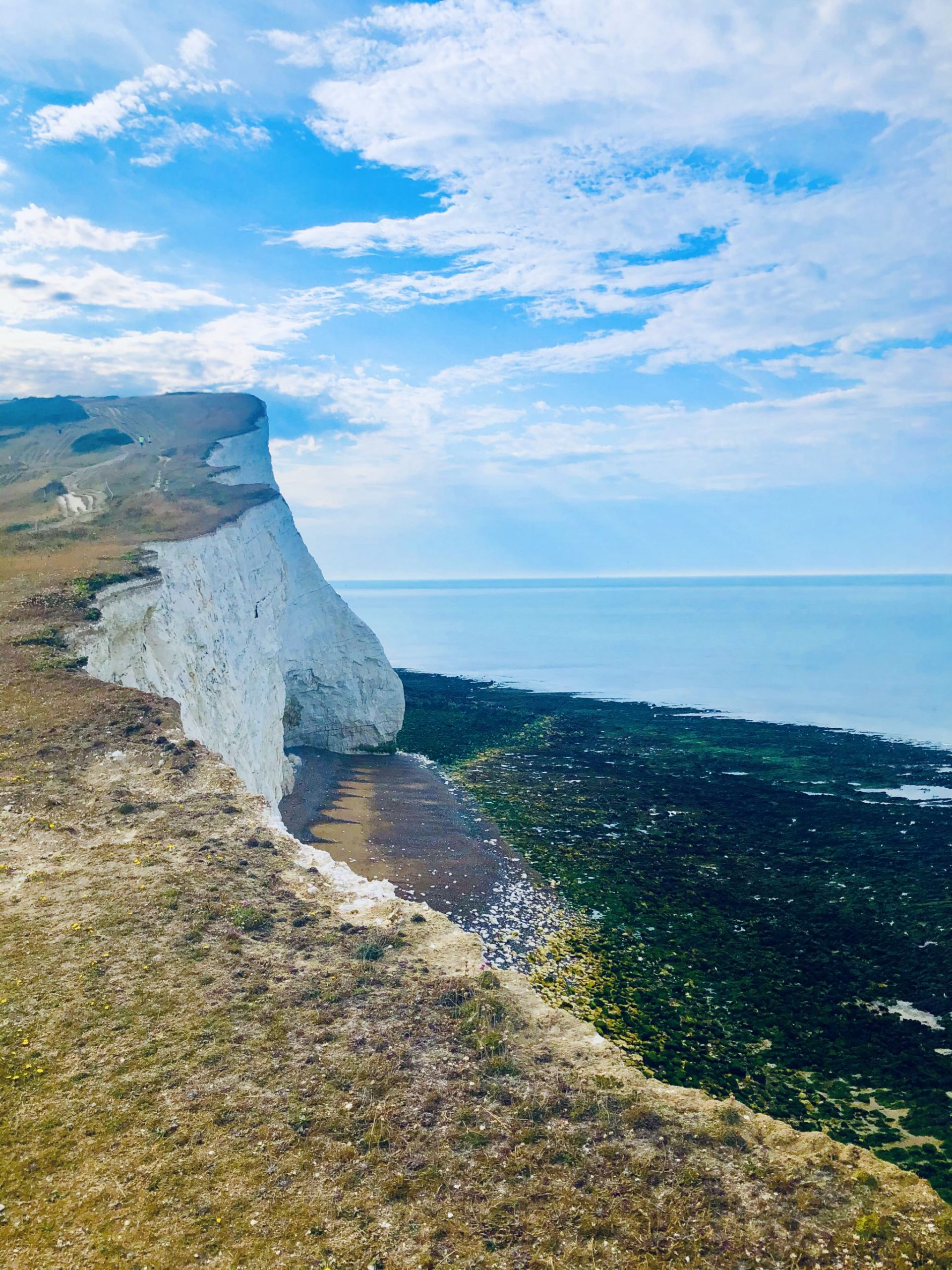 clifftop views in Seaford hiking
